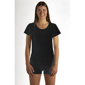 Tee-shirt anti-ondes Wavesafe pour femme coton bio encolure ronde manches courtes  | Noir