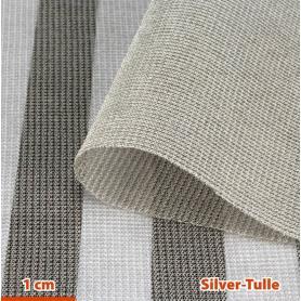 Tissu de protection anti-ondes hautes et basses fréquences Silver-Tulle YShield