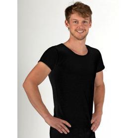 Tee-shirt anti-ondes Wavesafe pour homme coton bio manches courtes  | Noir