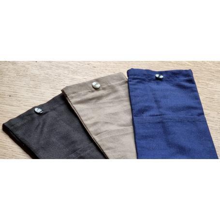 Pochette anti-ondes pour téléphone portable doublée tissu Silver-Silk YShield | 3 coloris