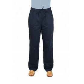Pantalon anti-ondes Wavesafe en satin de coton bio doublé tissu Swiss Shield Ultima | Marine