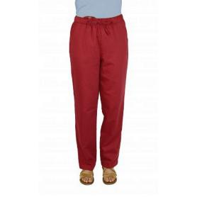 Pantalon anti-ondes Wavesafe en satin de coton bio doublé tissu Swiss Shield Ultima | Cerise