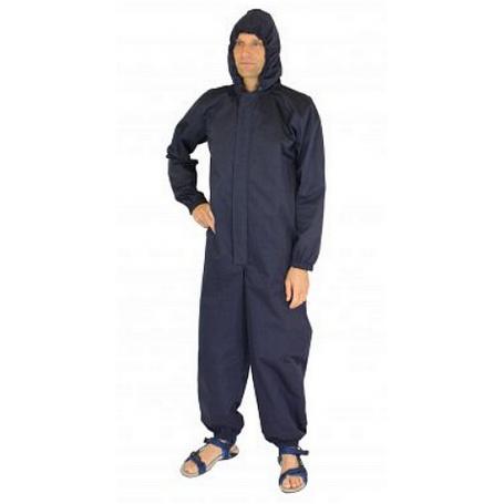 Combinaison intégrale anti-ondes Wavesafe pour homme avec capuche | Bleu marine