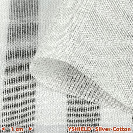 Tissu anti-ondes hautes et basses fréquences Silver-Cotton YShield