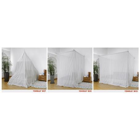 Baldaquin de protection anti-ondes hautes et basses fréquences YShield Silver-Cotton | 3 déclinaisons