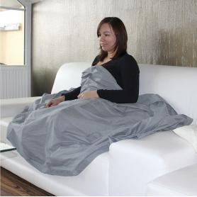 Couverture plaid anti-ondes de prtection hautes et basses fréquences en tissu Steel-Gray YShield