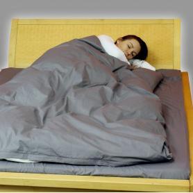 Parure de lit de protection anti-ondes hautes et basses fréquences en tissu Steel-Gray YShield