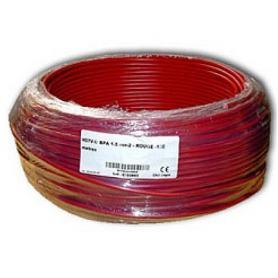 Fil de phase blindé 1.5 mm² rouge