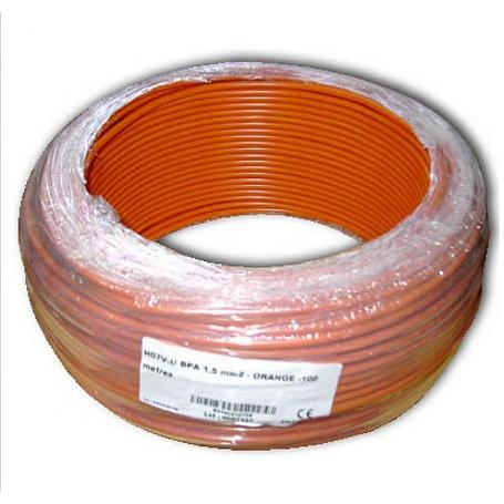 Fil de phase blindé 1.5 mm² orange