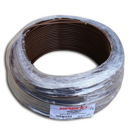Fil de phase blindé 1.5 mm² marron