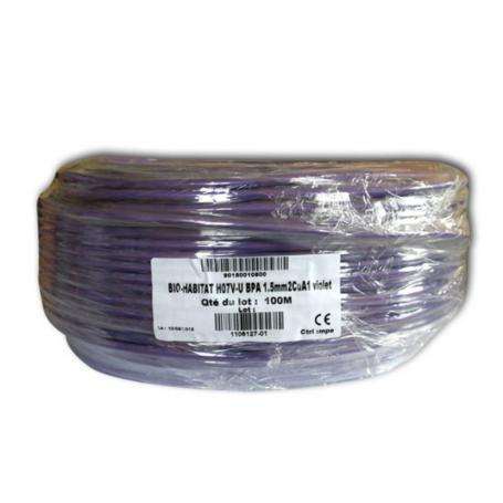 Fil de phase blindé 1.5 mm² violet
