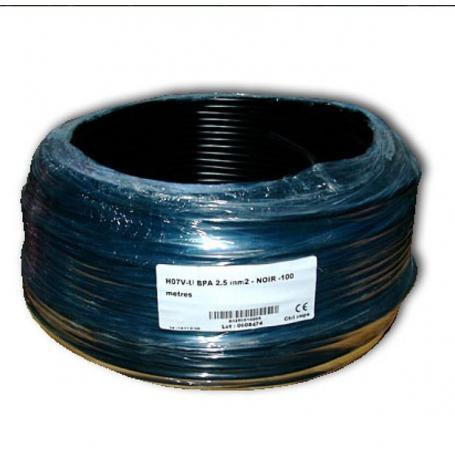 Fil de phase blindé 2.5 mm² noir