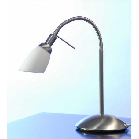 "Lampe de bureau blindée Danell ""Acier brossé"""