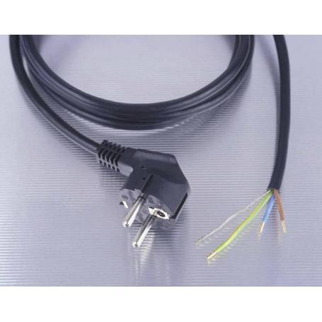 Câble blindé + prises 3 mètres noir Danell, 0.75 mm², prêt à monter